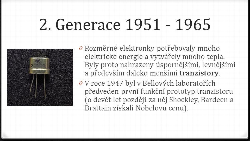 2. Generace 1951 - 1965