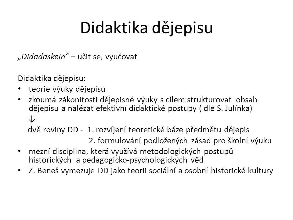 "Didaktika dějepisu ""Didadaskein – učit se, vyučovat"