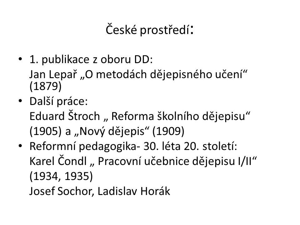 České prostředí: 1. publikace z oboru DD: