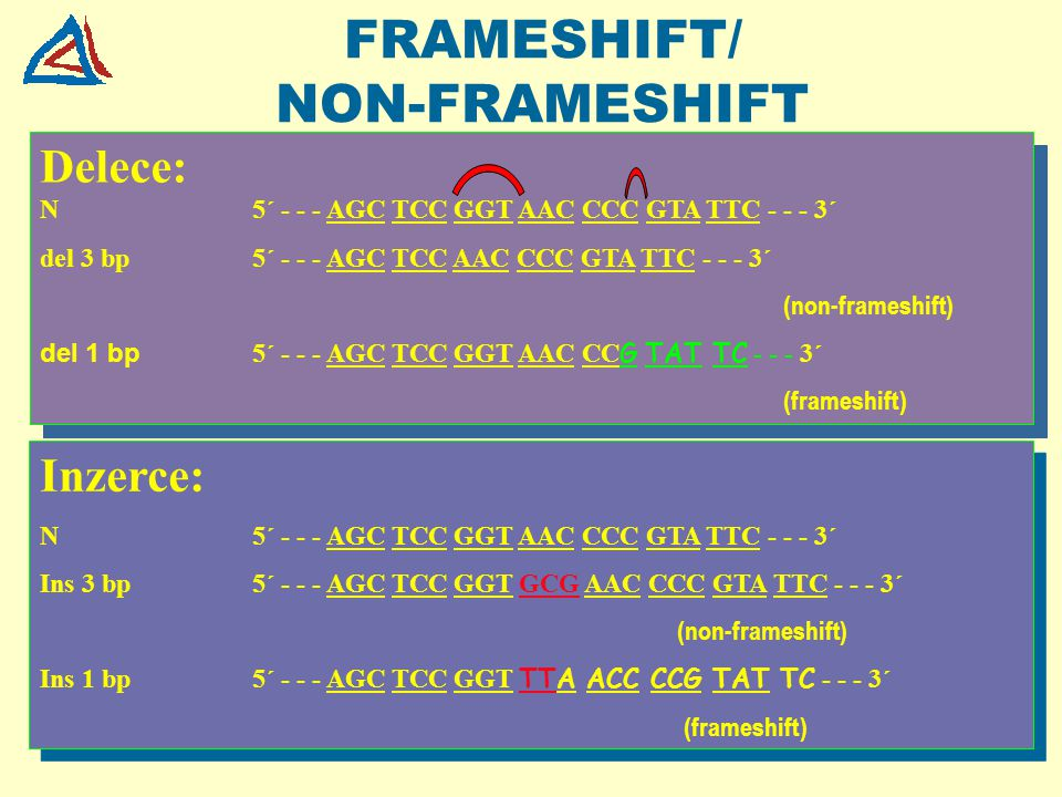 FRAMESHIFT/ NON-FRAMESHIFT