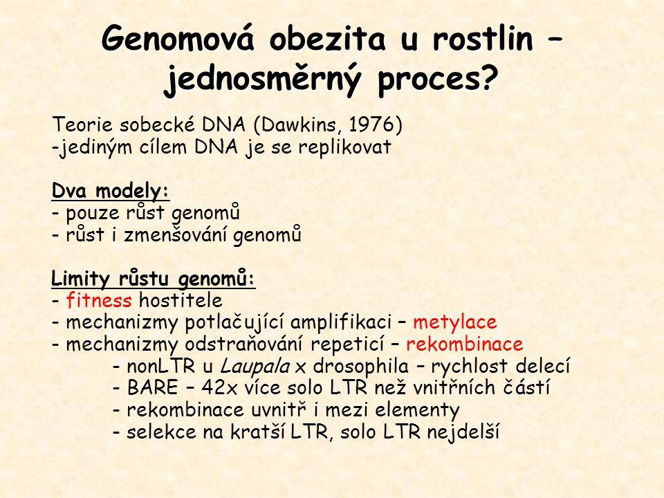 Genomová obezita u rostlin – jednosměrný proces