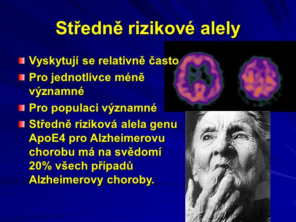 Středně rizikové alely