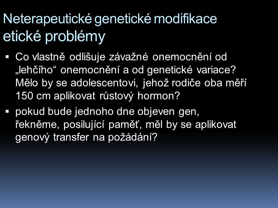 Neterapeutické genetické modifikace etické problémy