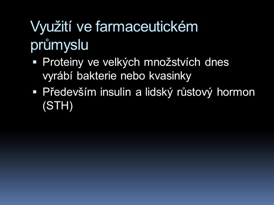 Využití ve farmaceutickém průmyslu