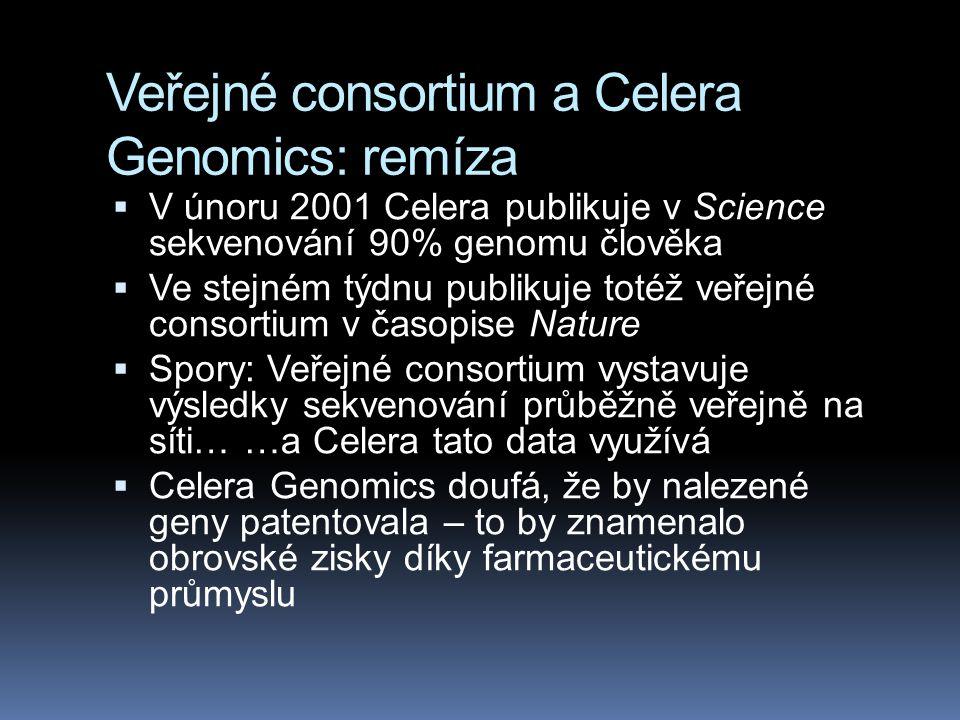 Veřejné consortium a Celera Genomics: remíza