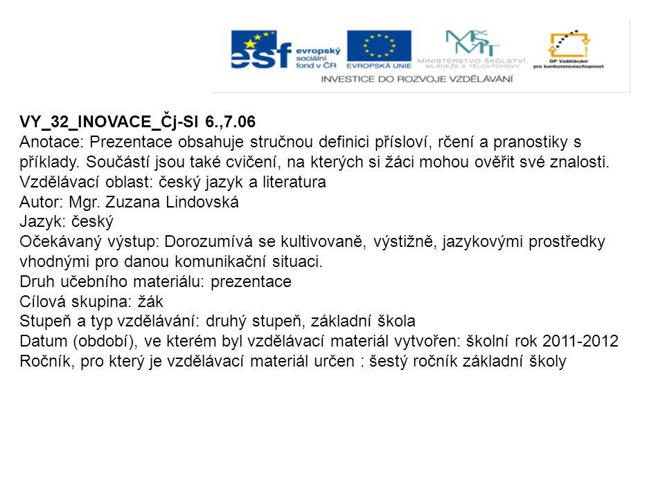 VY_32_INOVACE_Čj-Sl 6.,7.06