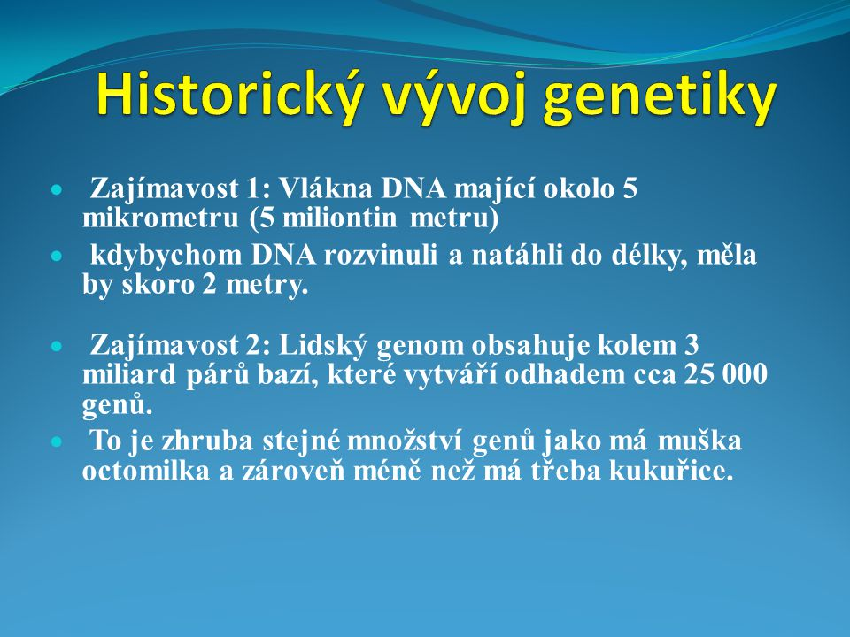 Historický vývoj genetiky