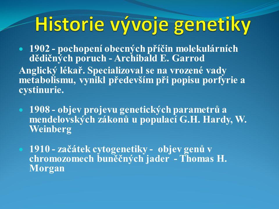 Historie vývoje genetiky