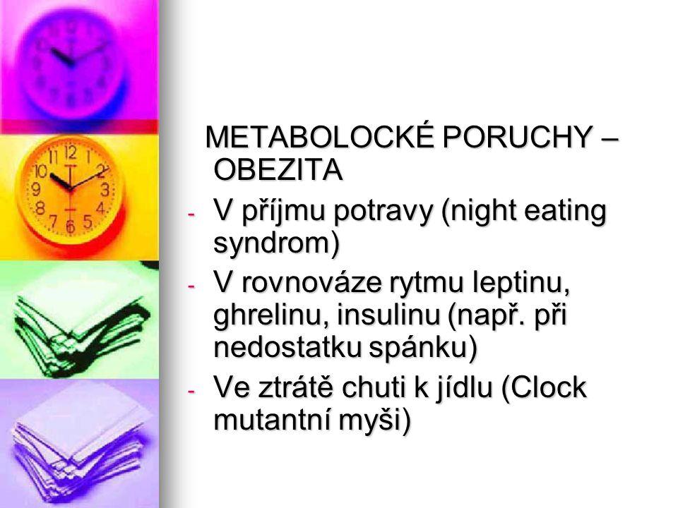 METABOLOCKÉ PORUCHY – OBEZITA