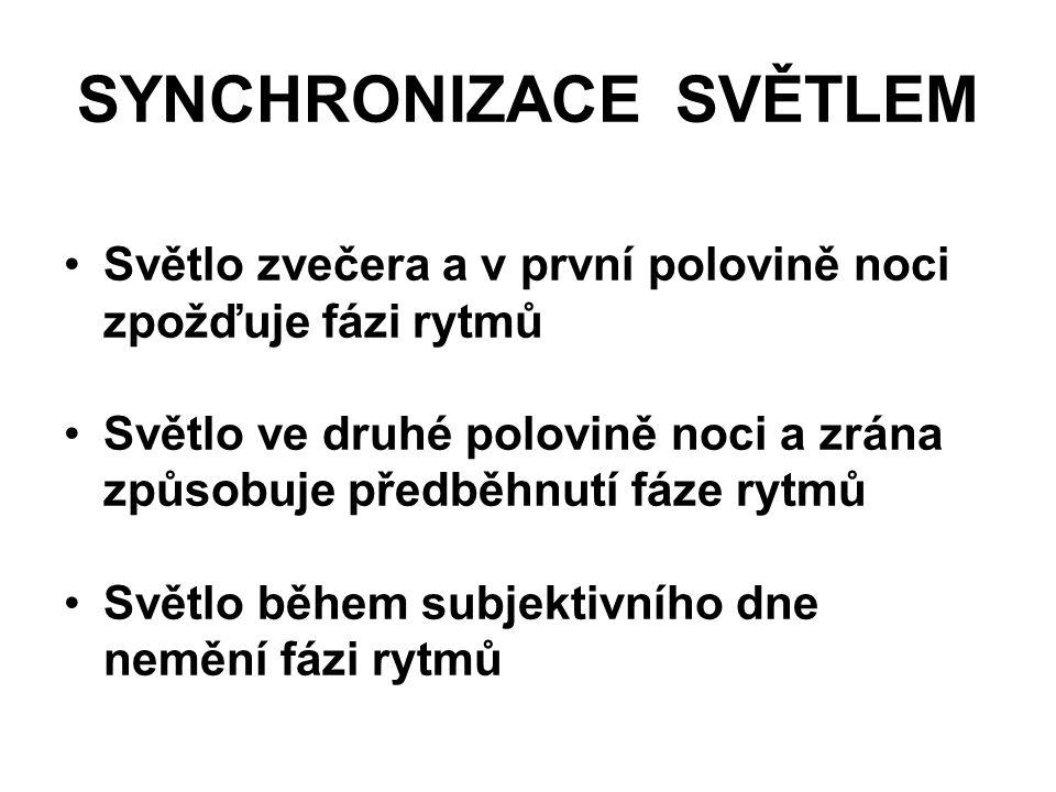 SYNCHRONIZACE SVĚTLEM