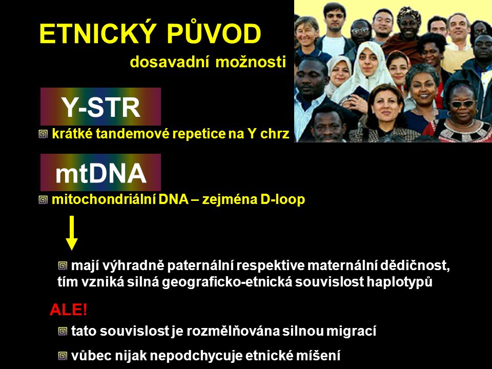 ETNICKÝ PŮVOD Y-STR mtDNA