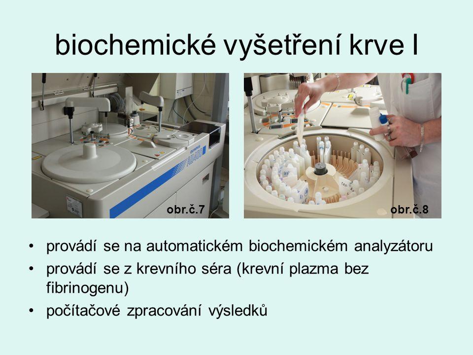 biochemické vyšetření krve I