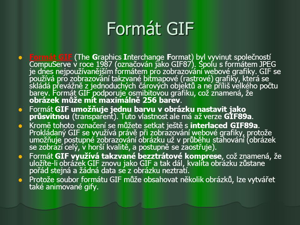 Formát GIF
