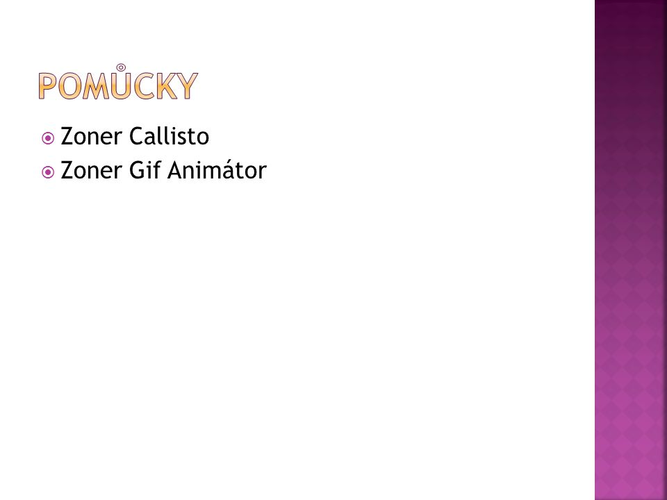 Pomůcky Zoner Callisto Zoner Gif Animátor