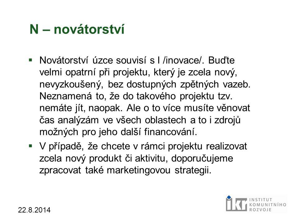 N – novátorství