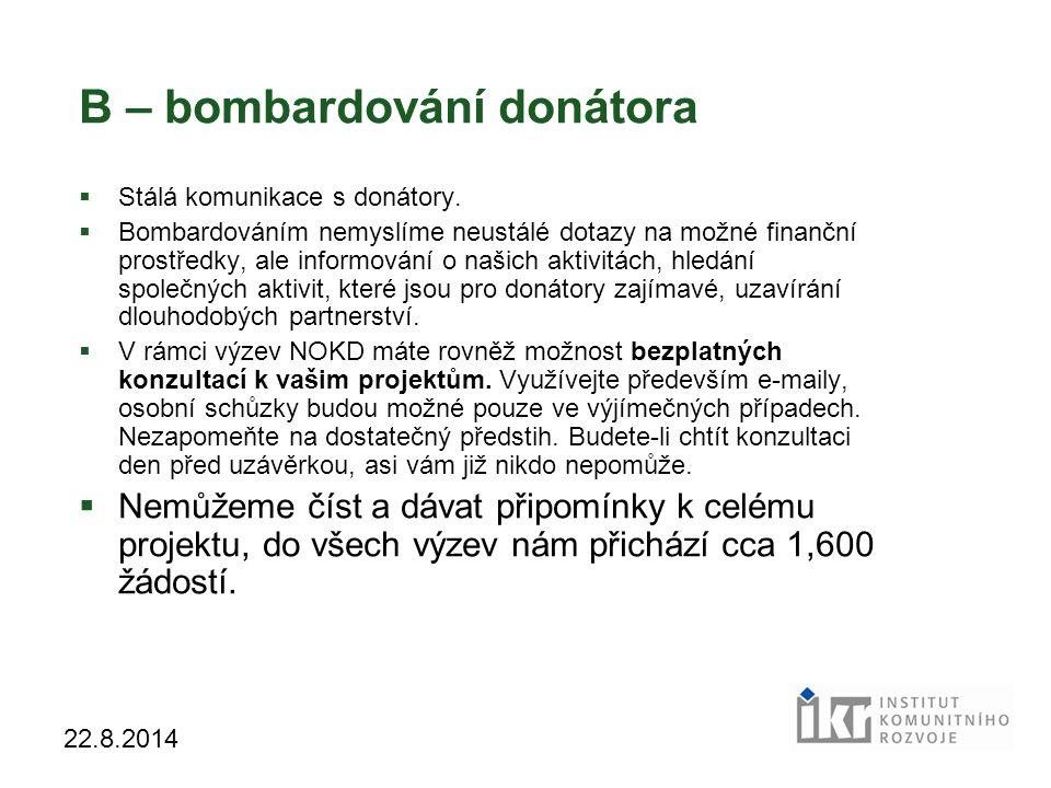 B – bombardování donátora