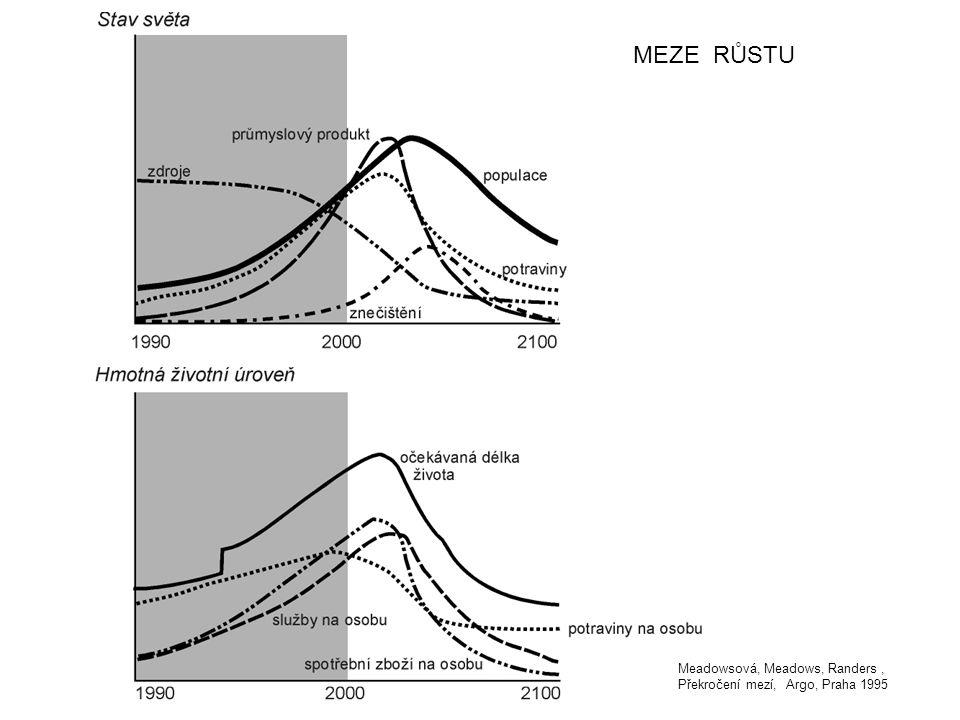 MEZE RŮSTU Meadowsová, Meadows, Randers , Překročení mezí, Argo, Praha 1995