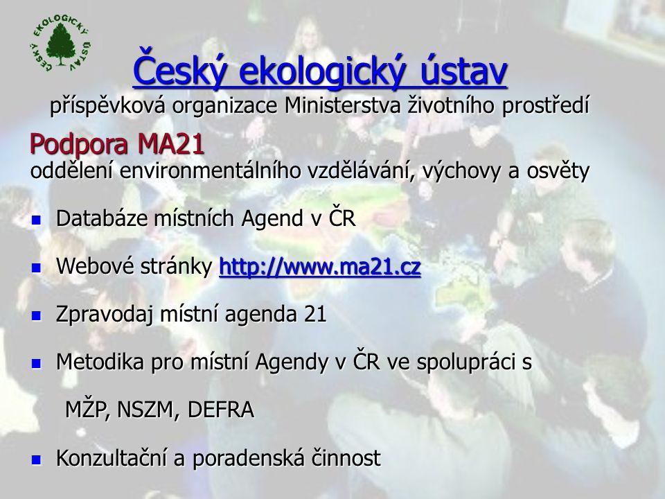 Český ekologický ústav příspěvková organizace Ministerstva životního prostředí