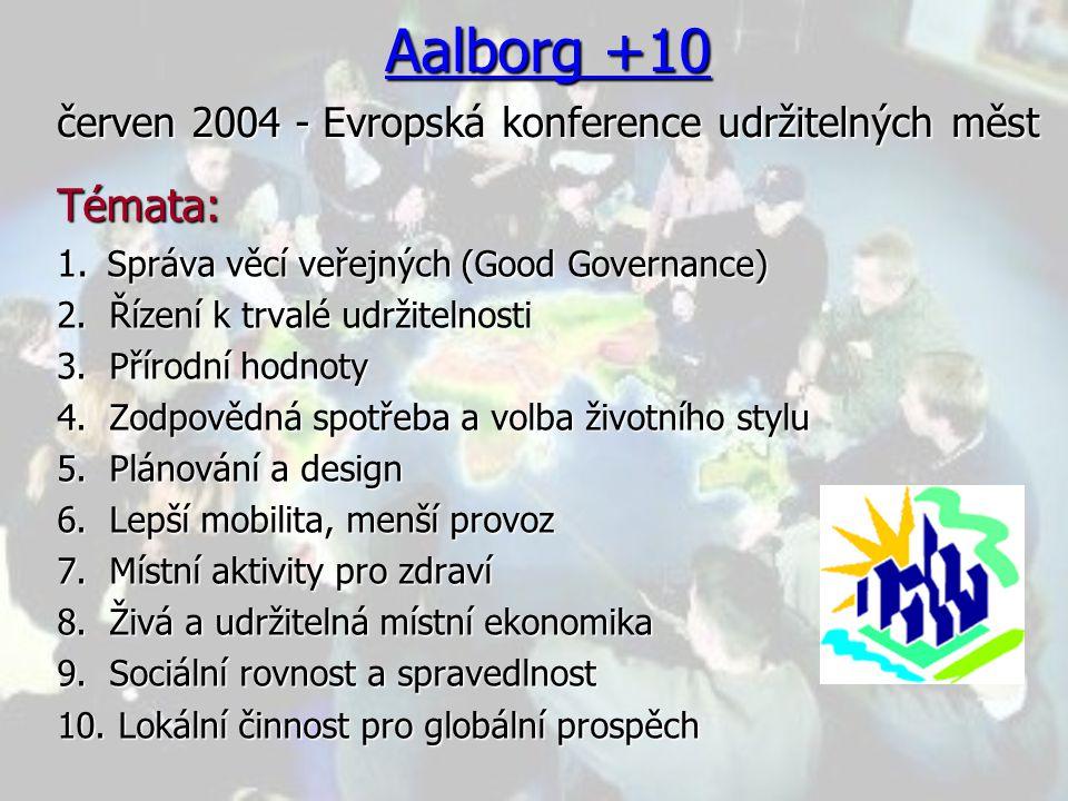 Aalborg +10 červen 2004 - Evropská konference udržitelných měst
