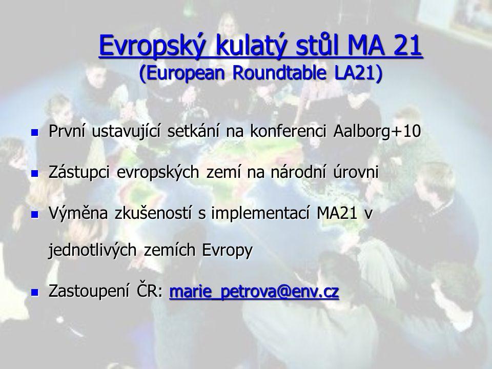Evropský kulatý stůl MA 21 (European Roundtable LA21)