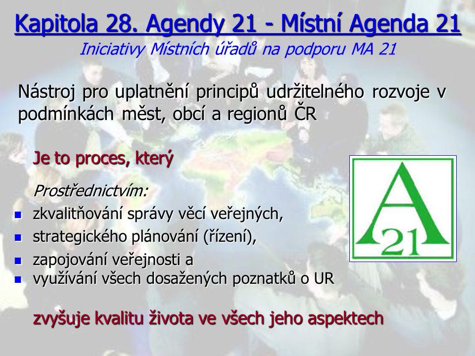 Kapitola 28. Agendy 21 - Místní Agenda 21
