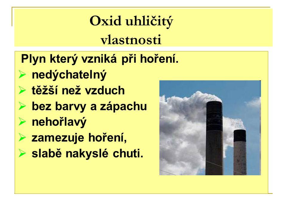 Oxid uhličitý vlastnosti