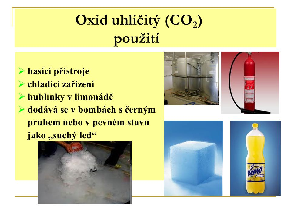 Oxid uhličitý (CO2) použití