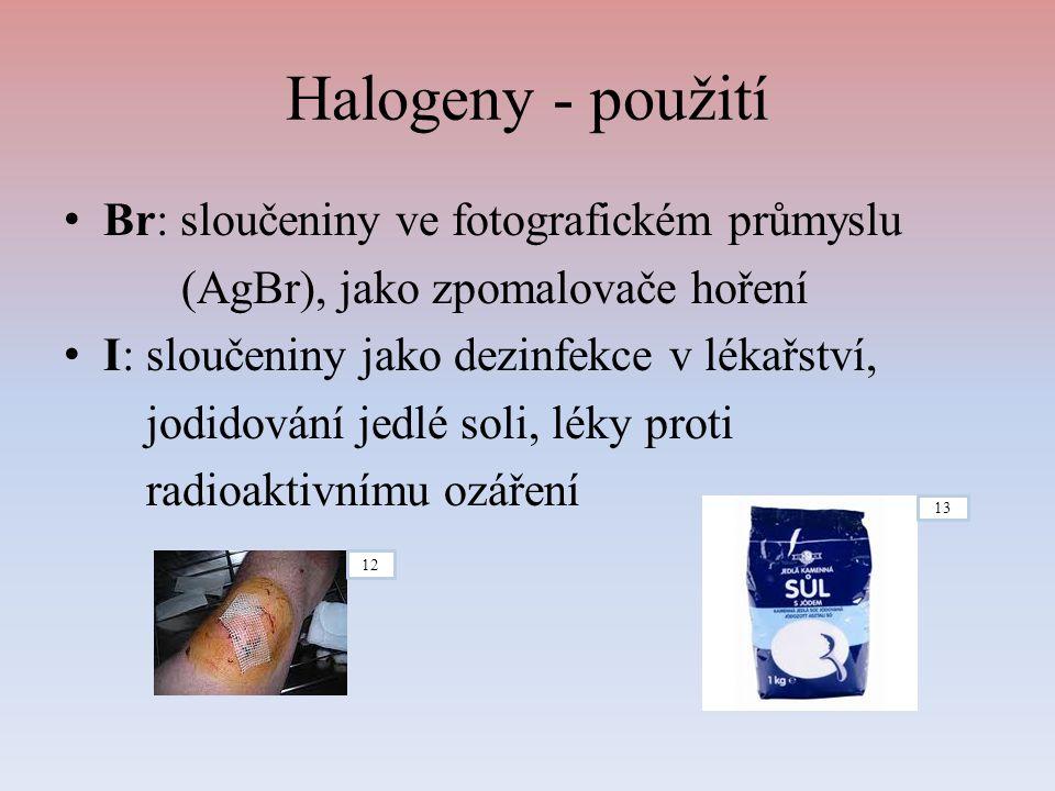 Halogeny - použití Br: sloučeniny ve fotografickém průmyslu