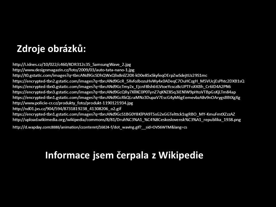 Informace jsem čerpala z Wikipedie