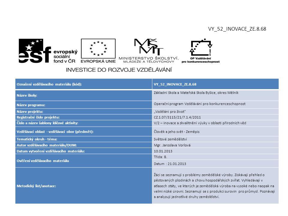 VY_52_INOVACE_ZE.8.68 Označení vzdělávacího materiálu (kód):