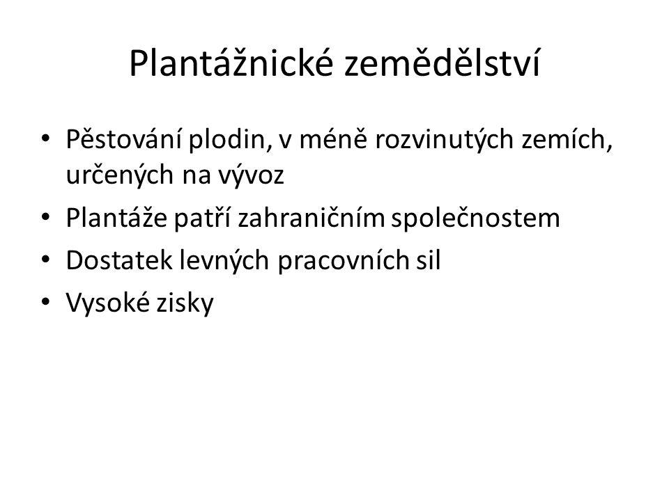 Plantážnické zemědělství