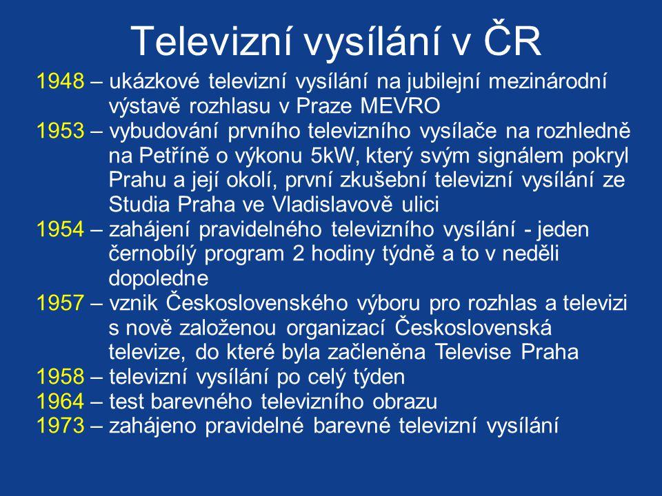 Televizní vysílání v ČR