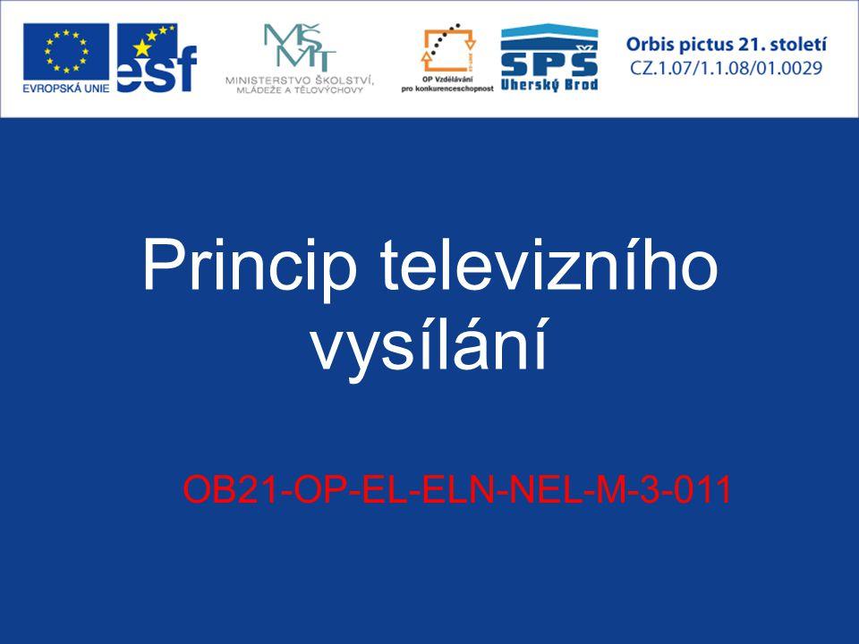 Princip televizního vysílání