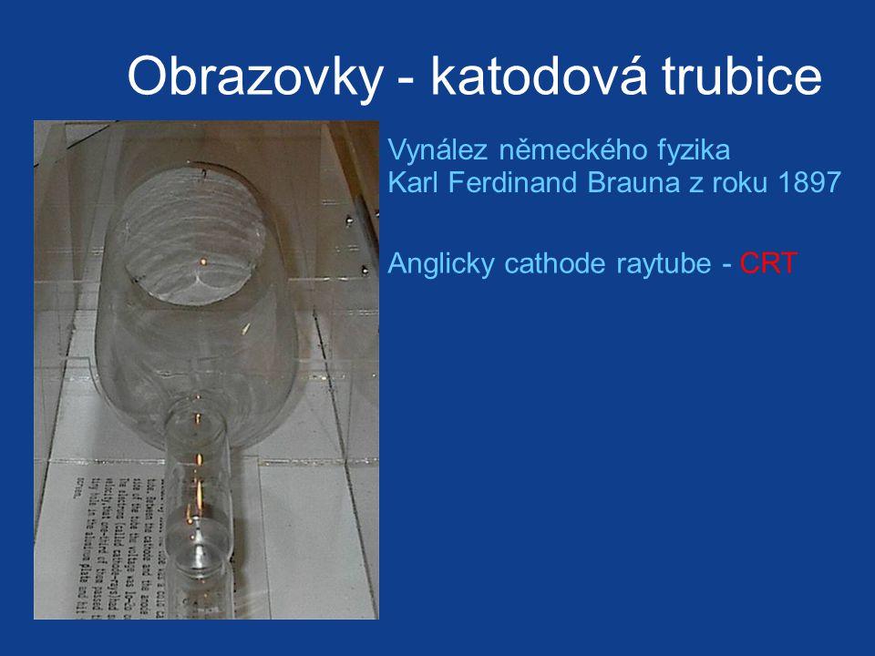 Obrazovky - katodová trubice