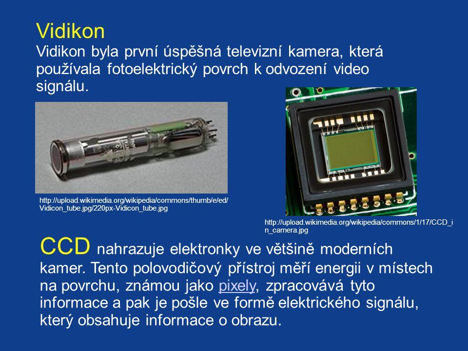 Vidikon Vidikon byla první úspěšná televizní kamera, která používala fotoelektrický povrch k odvození video signálu.