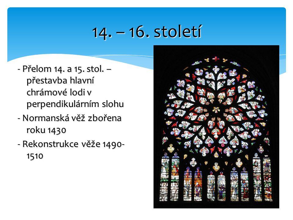 14. – 16. století