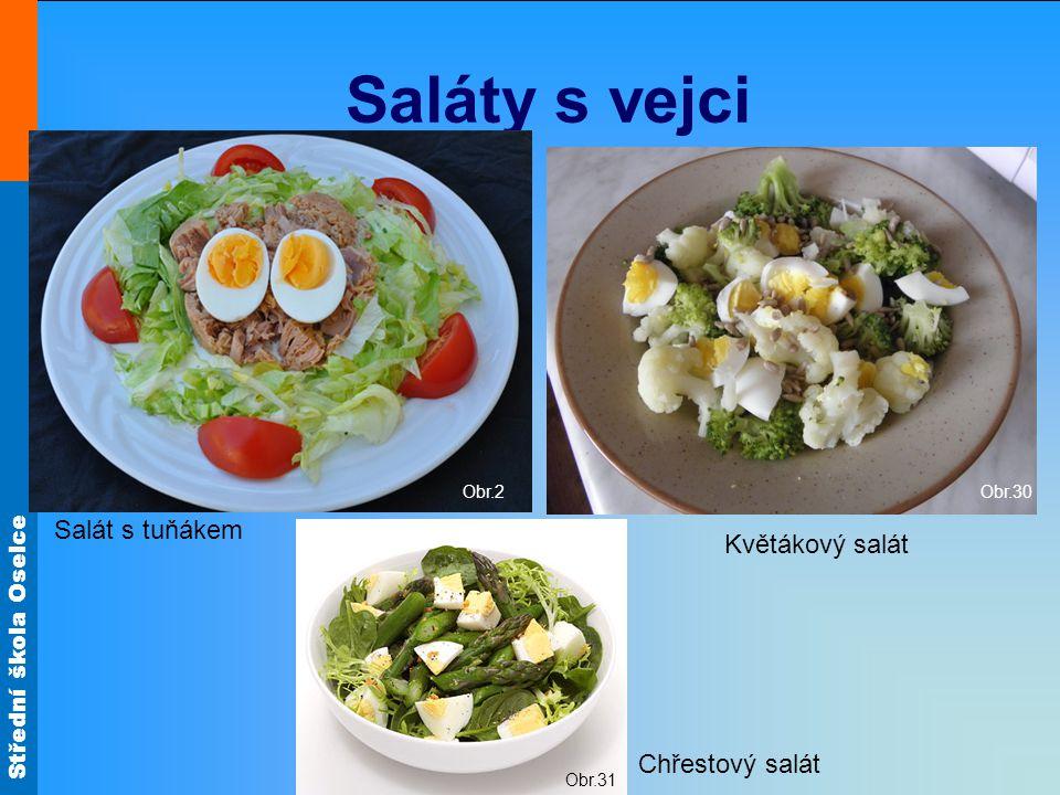 Saláty s vejci Salát s tuňákem Květákový salát Chřestový salát Obr.2