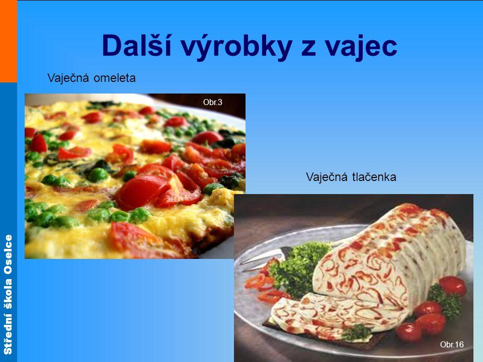 Další výrobky z vajec Vaječná omeleta Obr.3 Vaječná tlačenka Obr.16