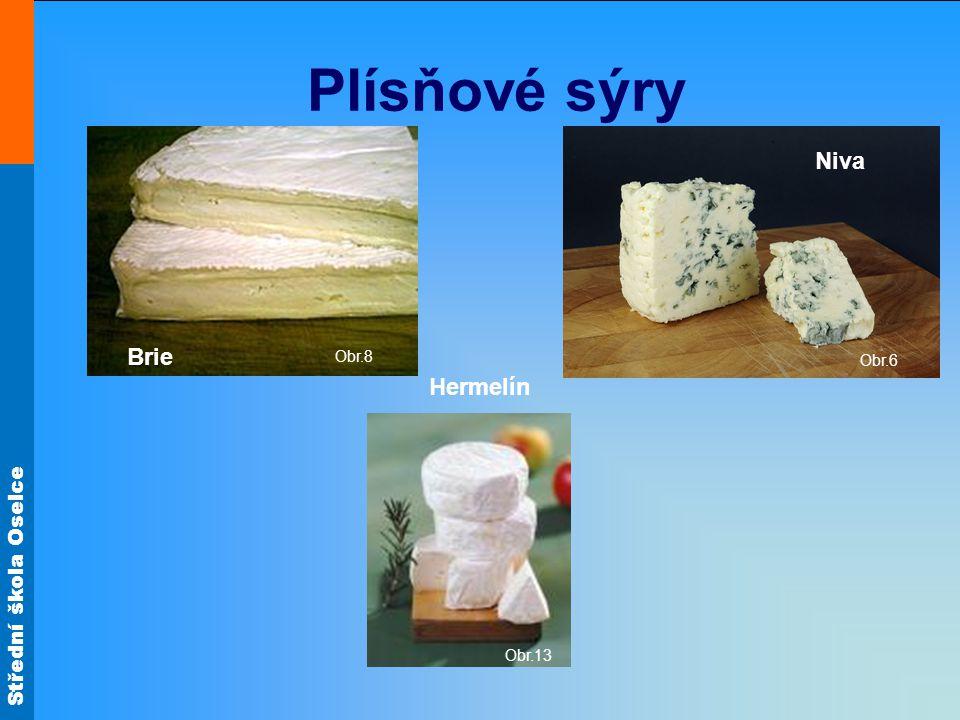 Plísňové sýry Obr.8 Obr.6 Niva Brie Hermelín Obr.13