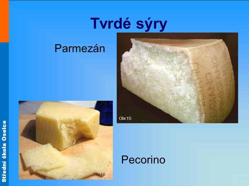 Tvrdé sýry Obr.15 Parmezán Obr.16 Pecorino