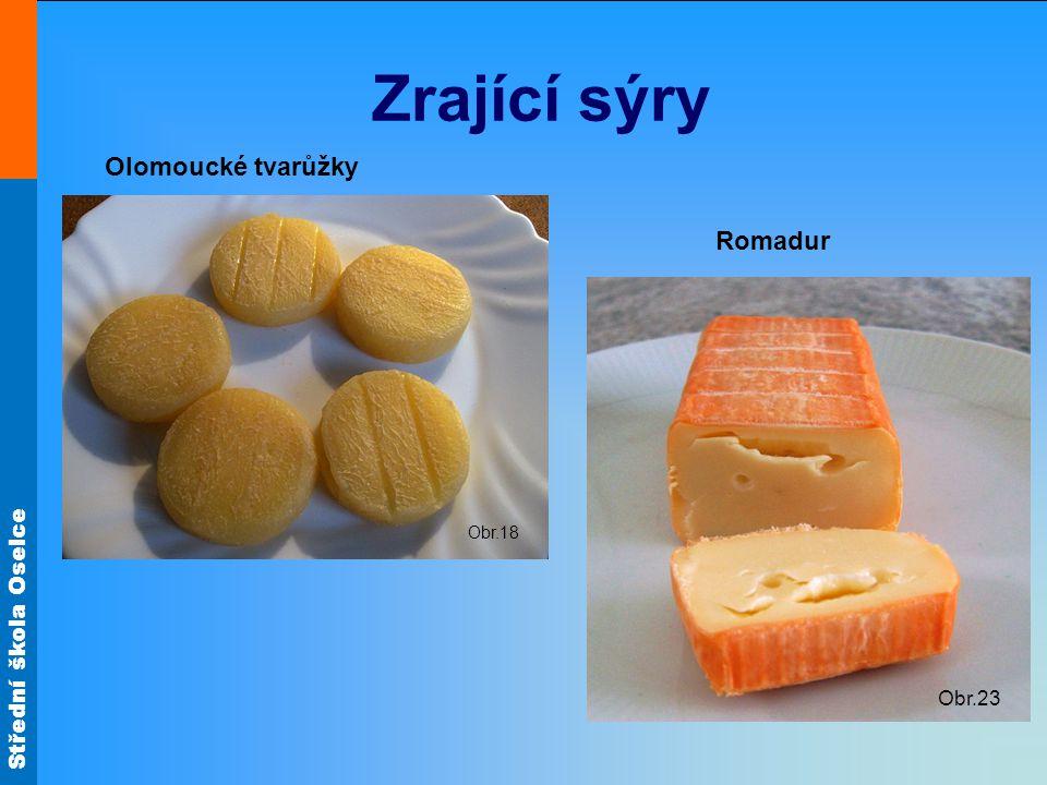 Zrající sýry Olomoucké tvarůžky Obr.18 Romadur Obr.23