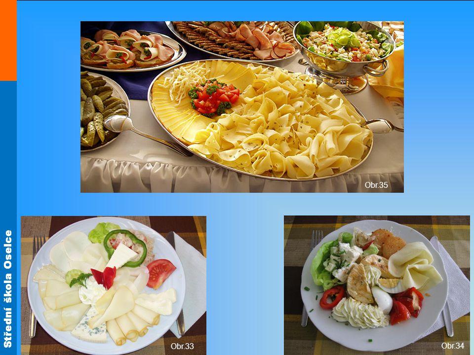 Použití sýrů Obr.35 Obložené mísy, talíře Obr.33 Obr.34