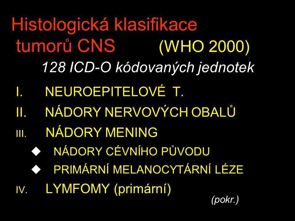 Histologická klasifikace tumorů CNS. (WHO 2000)