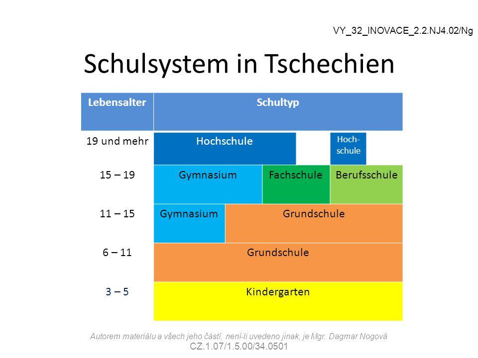 Schulsystem in Tschechien