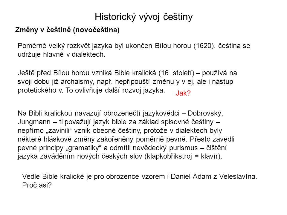 Historický vývoj češtiny