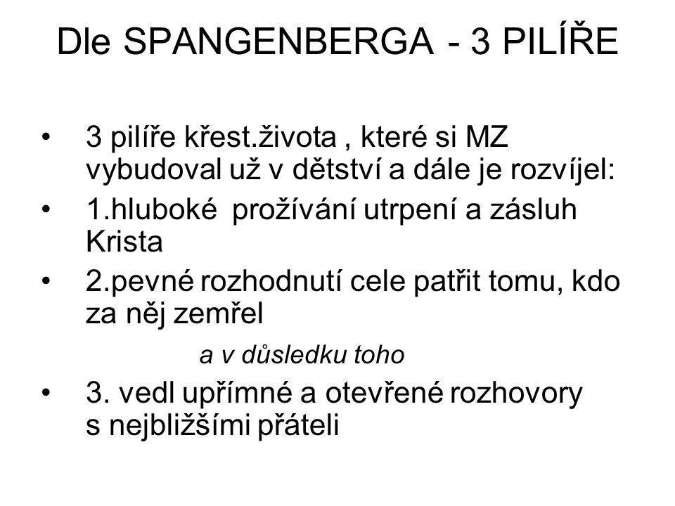 Dle SPANGENBERGA - 3 PILÍŘE
