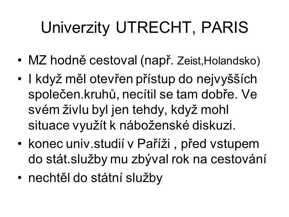 Univerzity UTRECHT, PARIS