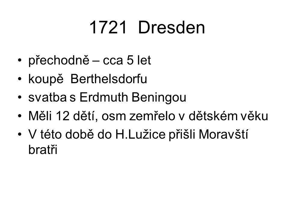 1721 Dresden přechodně – cca 5 let koupě Berthelsdorfu