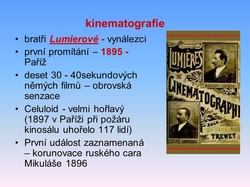 kinematografie bratři Lumierové - vynálezci