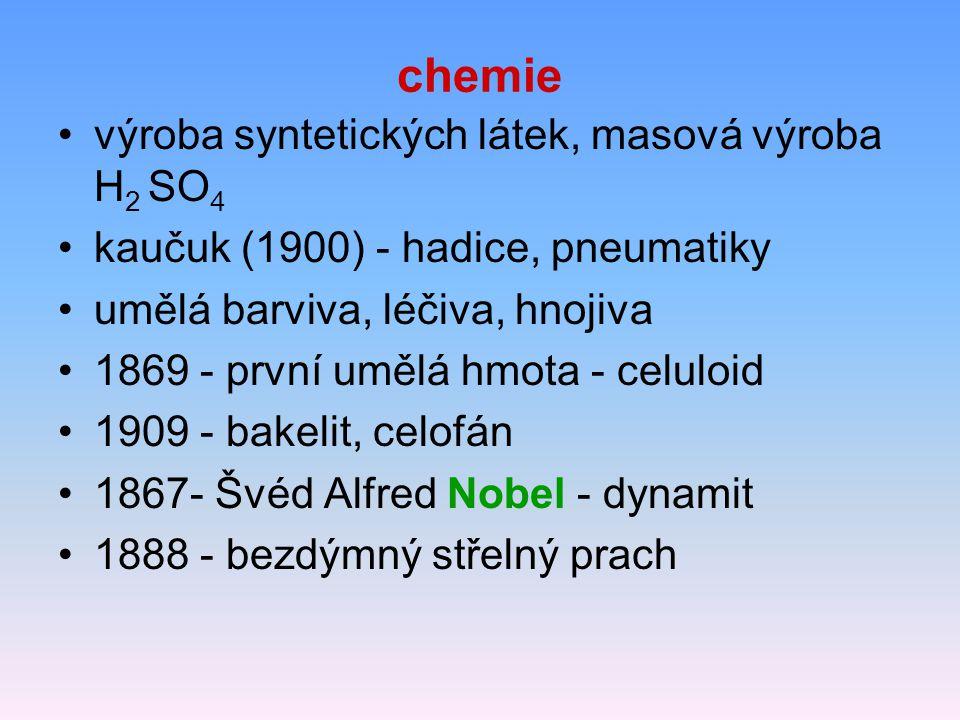 chemie výroba syntetických látek, masová výroba H2 SO4
